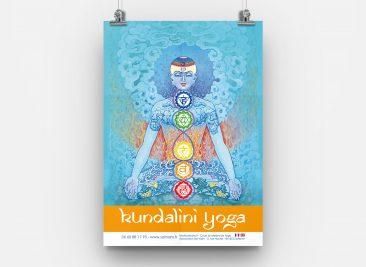 Affiche A3 Kundalini Yoga pour l'association Sat Nam