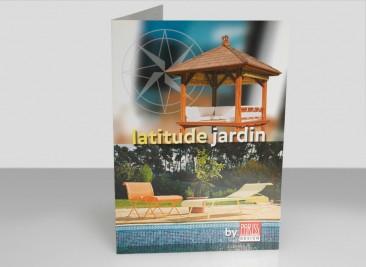 Plaquette Lattitude Jardin pour Pariss design