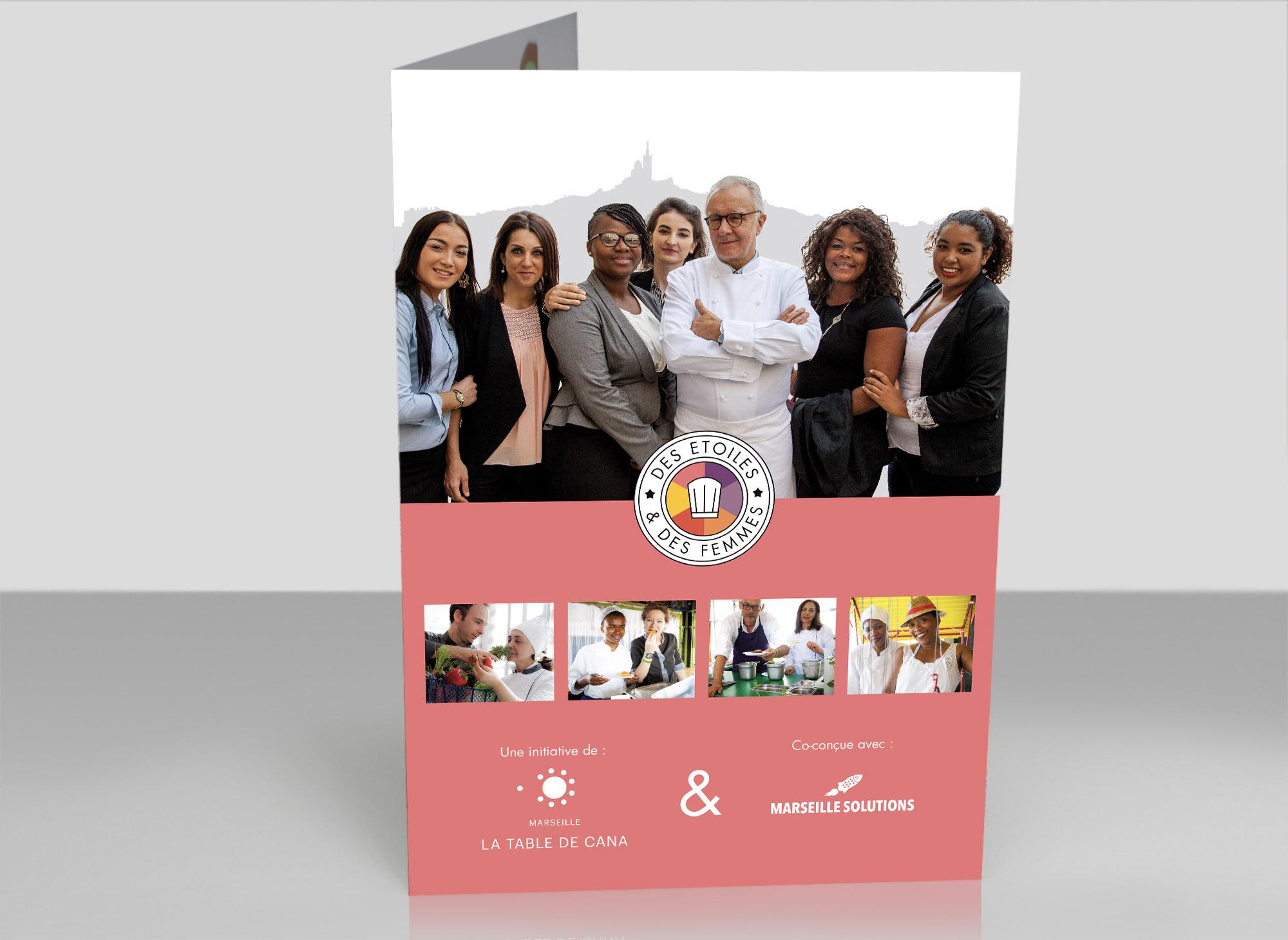 Création de plaquette pour « Des Étoiles & des Femmes »