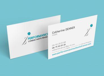 Carte de visite pour Performance consultants FRANCE