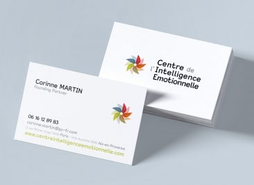 Logo et carte de visite pour le Centre de l'Intelligence Emotionnelle
