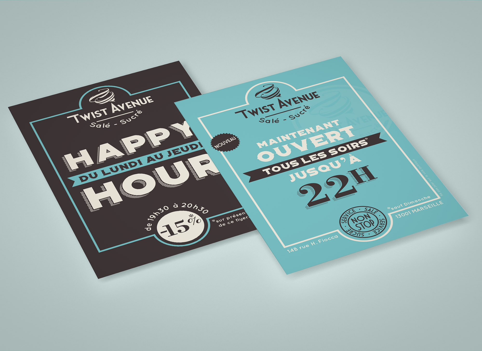 Flyer A5 pour Twist Avenue : Happy Hour