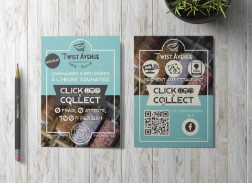 Flyer A6 pour Twist Avenue : Click & Collect