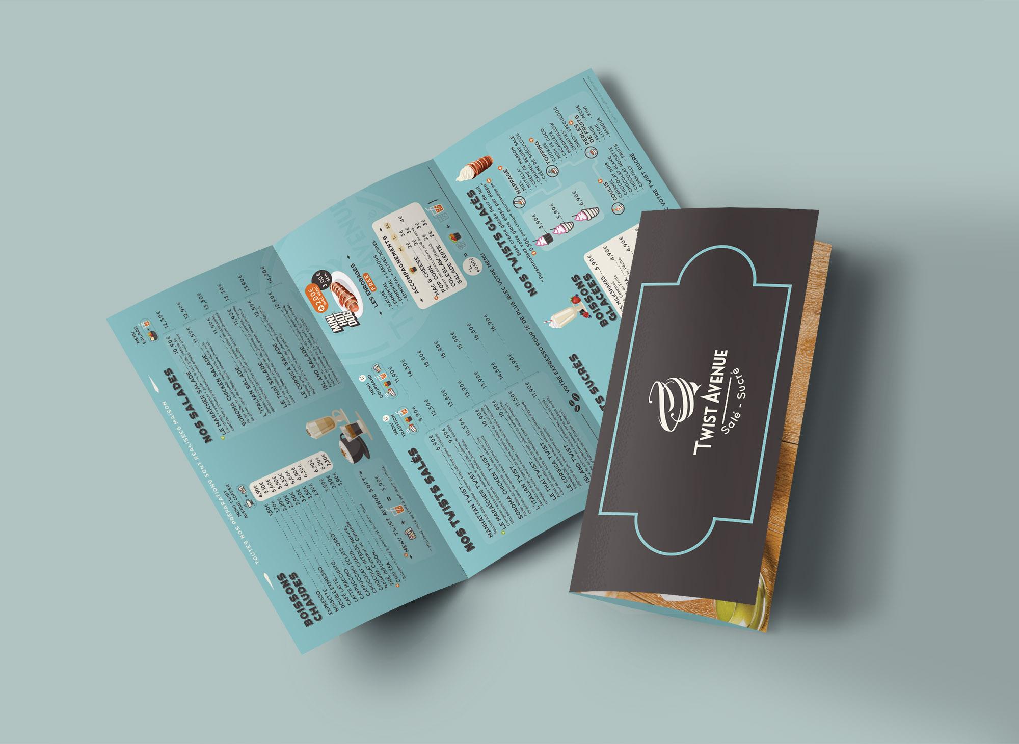 Brochure A4 2 plis pour Twist Avenue