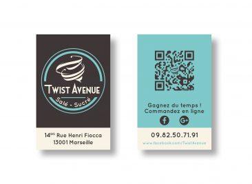 Identité visuelle pour Twist Avenue : Carte de visite