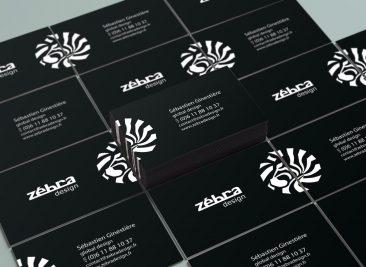 Carte de visite Zébra design